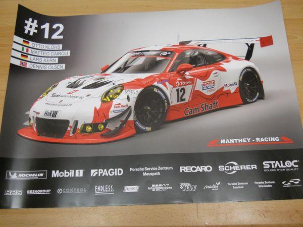 Poster Manthey Racing 12 Porsche