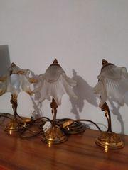 Lampen Messing Blüten Glas
