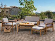 Lounge Set Holz braun 4-Sitzer