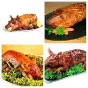 Geflügel und Schwein gebacken gekasslert