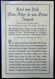 alte Leseproben Buchbeilage von 1920
