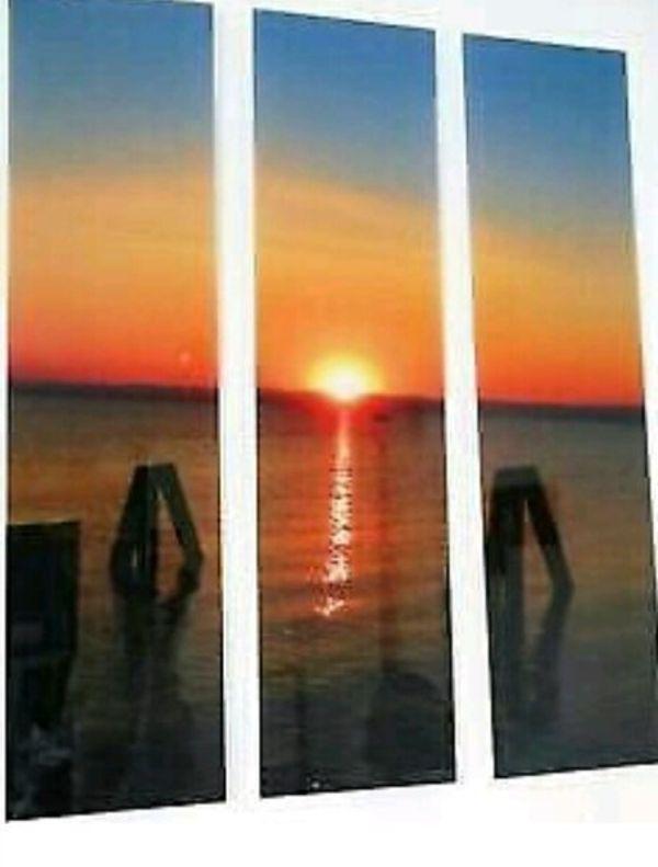 Bilder Acrylglasbild neu Sonnenuntergang am