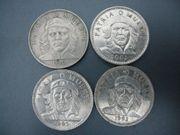 4 X 3 Peso Münzen