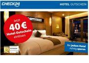 Check24 40 Euro Hotel Gutschein