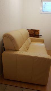 ECHT-LEDER Couch MASSIV