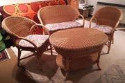 Helle Ratan Lounge Sitzgarnitur - spitzen