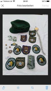 Polizeiuniform Konvolut