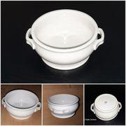 Bauscher Porzellan weiße runde Terrine