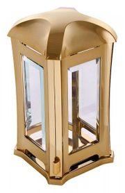 Grablampe Venezia goldfarben Grablaterne Grablicht