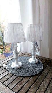 2 romantische Nachttischlampen Tischlampen NEU