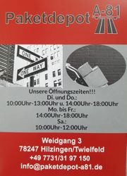 Paketdepot A81 Grenzpaket Deutsche Lieferadresse