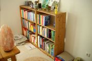 2 Standregale Bücherregale Holz massiv
