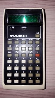 Vintage - Taschenrechner Qualitron Model - 1450