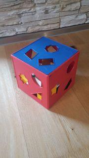Motorikwürfel geometrische Formen Spielwürfel Formen