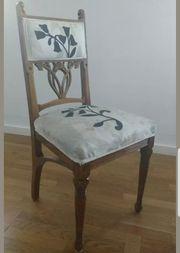Set 6 Jugendstil Stühle