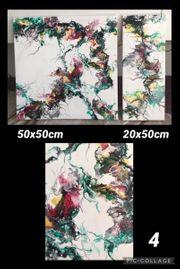 Kunst Acryl Gießen Malerei auf