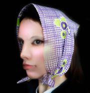 Kopftuch Dreieckstuch Vintage 70th Schal