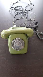 Wählscheibentelefon grün
