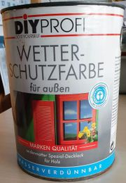 FEUERROT 2 5 L -Wasserverdünnbar-Wetterschutzfarbe