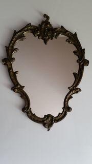 Wandspiegel Messing oval 31x43 cm