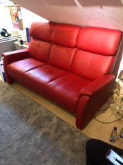 Schönes Sofa aus Leder 3-Sitzer -