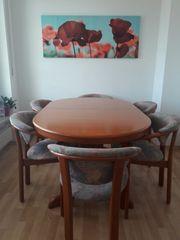 Biete Vollholz Tisch 6 Stühle -