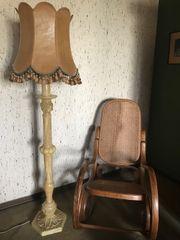Stehlampe Vintage grüner Onyx oder