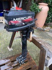 Außenborder Bootsmotor Mercury 4PS Langschaft