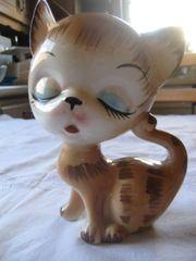 wunderschöne Katzenfigur Katze aus Porzellan