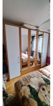 Komplettes Schlafzimmer Kleiderschrank Bett Kommode
