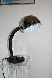 Original Schreibtischlampe HILLEBRAND schwarz Chrom -