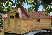 Sauna Grillhütte 9 2qm Grillanlage