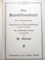 seltenes antiquarisches Mandolinenbuch von W
