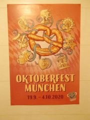 original Münchner WIESN PLakat 2020