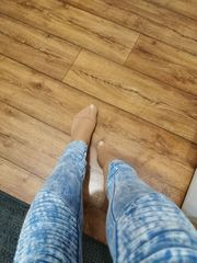 getragene nylons socken strumpfhose strapse