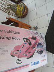Doppelsitzer Lenkbob pink Schlitten Bob