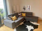 Couch Rundecke Grau - hochwertig
