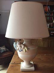 Couchtischlampe mit Keramikfuß 2-flammig