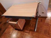 Kettler Schreibtisch höhenverstellbar incl Rollcontainer