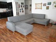 XL Wohnlandschaft Schlaffunktion Bettkasten Sofa