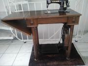 Antike Kayser Nähmaschine mit Tisch