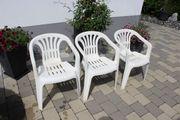 Gartenstühle weiß stapelbar