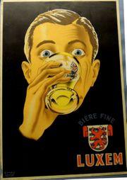 Vintage Werbeplakat Belgien