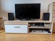 TV-Bank in Eiche Optik