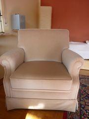 Sessel Stoffbezug Beige klassisch Sofa
