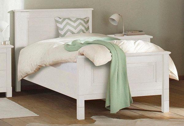 NEU Einzel-Bett 90x200 weiß Massiv-Holz