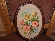 Stickbild Motiv Rosen oval 18