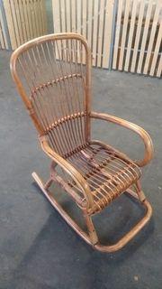 Schaukelstuhl Bambus Stuhl Sessel