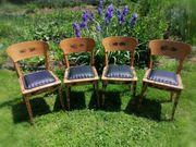 4 Stühle Unikate für Bauernstube