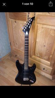 Vintage Shot E-Gitarre schwarz 80er